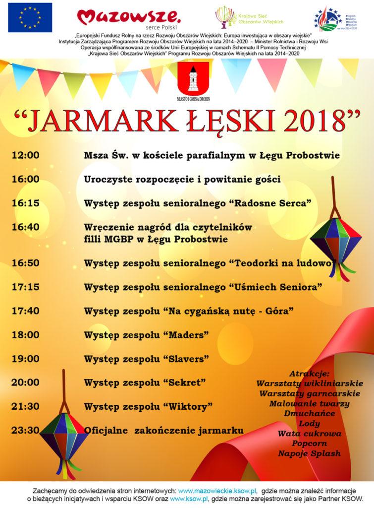 Plakat Jarmark Łęski 2018