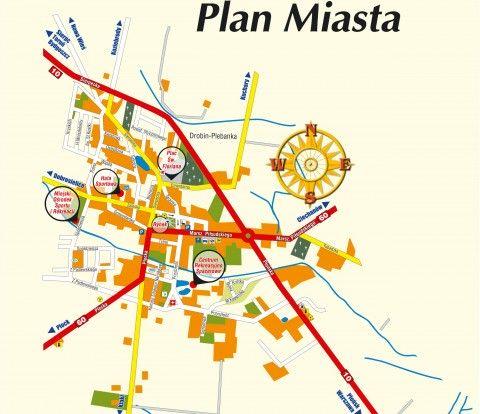 Plan Miasta Drobin