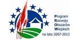 Logo Programu Rozwoju Obszarów Wiejskich na lata 2007-2013