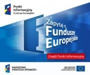 Zdjęcie przedstawia logo Punktu Informacyjnego i Funduszu Europejskiego
